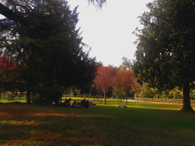 autumn in milan indro montanelli park