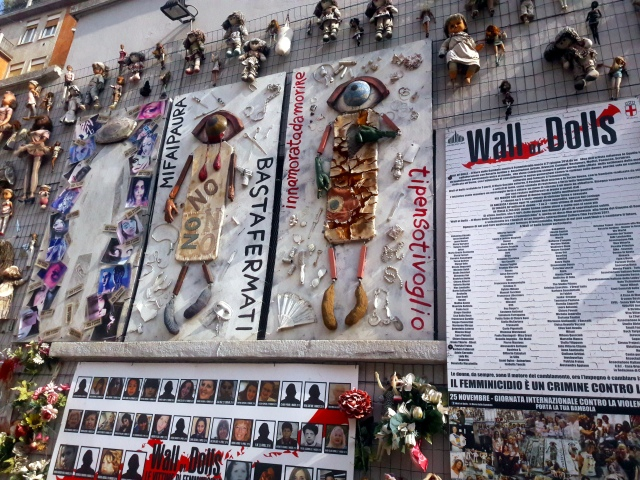 wall of dolls zidul papusilor milan milano feminicide