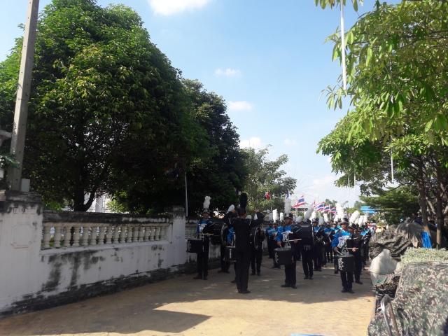 thailand temple phra samut chedi marching parade samut prakan