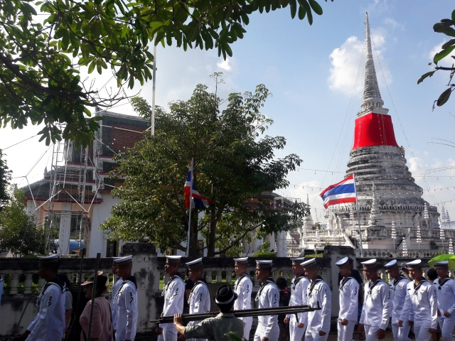 thailand temple samut prakan phra samut chedi temple fair parade