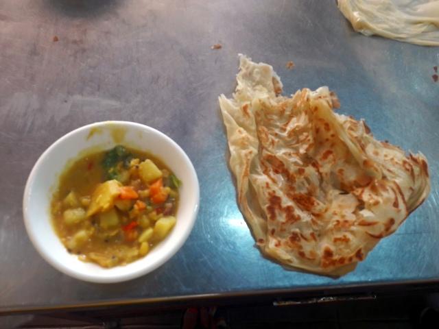 kampung kuala lumpur malaezia lazat cooking school roti canai and dhall curry