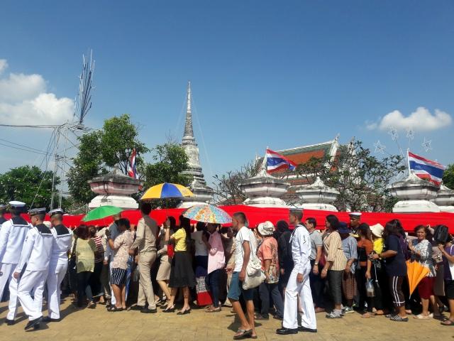 thailand temple phra samut chedi procession