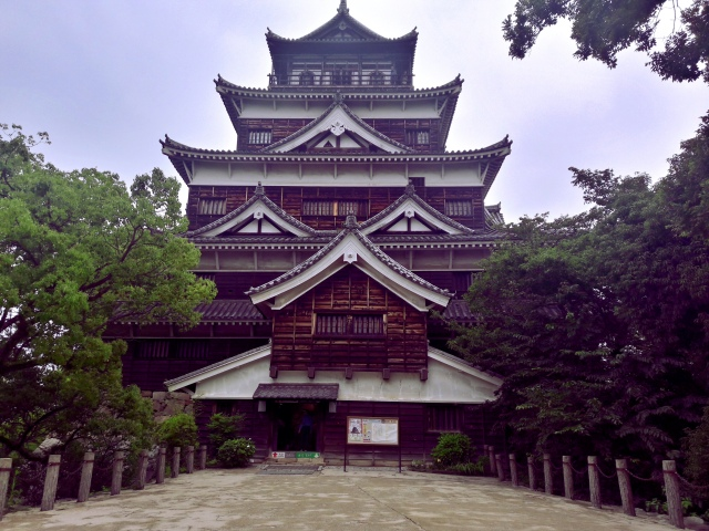 hiroshima castle japan museum tenshu